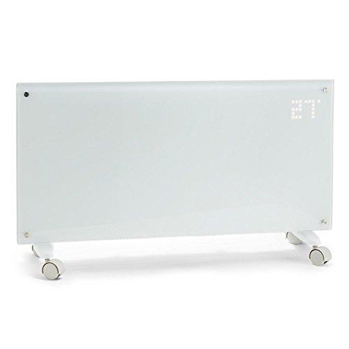 Klarstein Bornholm Radiatore Convettivo Termosifone Elettrico (2000 Watt, Display LCD, 2 Livelli di Riscaldamento, Calorifero con Protezione da Surriscaldamento, Telecomando) Bianco