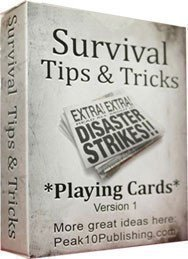 Survival Tips and Tricks Playing Cards version 1 - 1