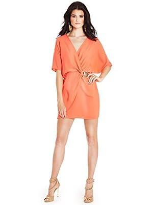 GUESS by Marciano Women's Monica Tunic Dress, ORANGE SILK (XS)