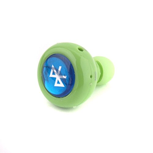 The Newest Mini Wireless Stereo Bluetooth Headphone For Smart Phone Laptop, Mini Earbud Headsets For Iphone 4 4S 5 5S Samsung Galaxy S4 S5 I9600 Note 2 3 Android Laptop Ipad Tablet (Green)