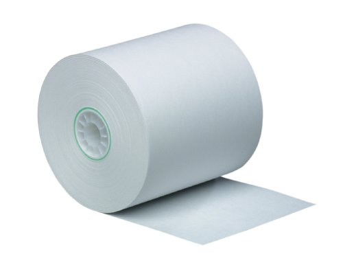 PM Company Perfection One Ply Blended Bond Paper Rolls, 3 X 190 Feet, White, 50 Rolls Per Carton (07928)