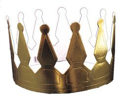 Gold Foil Crowns Party Accessory (1 count) - 1