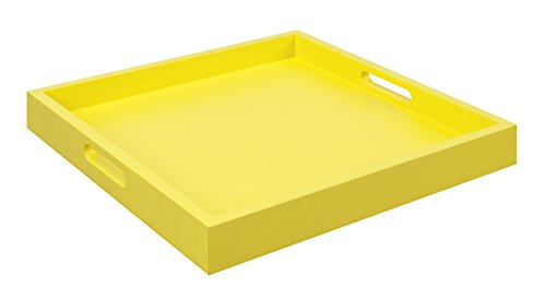 Convenience Concepts Palm Beach Serving Tray, Yellow (Yellow Tray compare prices)