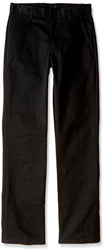 Nautica Slim Boys' Uniform Flat Front Pant, Black, Large/14/Slim (Boys Black Pants compare prices)