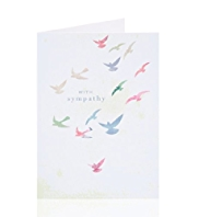 Sympathy Birds Greetings Card