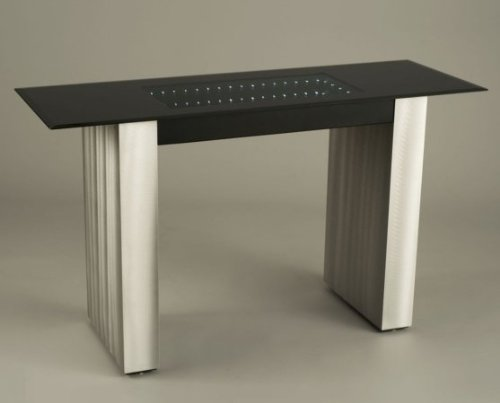 Cheap NOVA Lamps 5210118 Stealth Brushed Aluminum Console Table with Black Glass Top (B007NW60J8)
