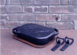 南部鉄器 ベイクパン(木台・ハンドル2ヶ付)