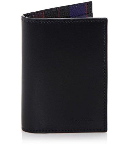 Paul Smith Uomo Portafoglio in pelle Mini carta stampa Nero Unica Taglia