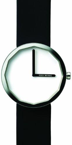 Issey Miyake IM-SILAP001 - Reloj unisex de cuarzo, correa de piel color negro