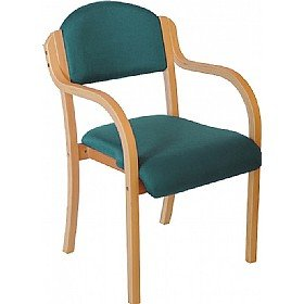Devonshire Wooden Frame Stacking Chair With Arms - Aqua