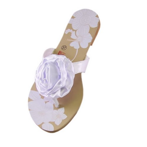 White Rose flip-flop Womens Shoes US10