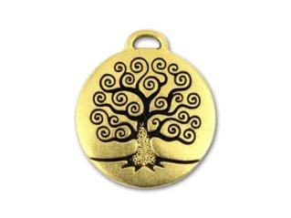 Tierracast Antique Gold Tree Of Life Pendant