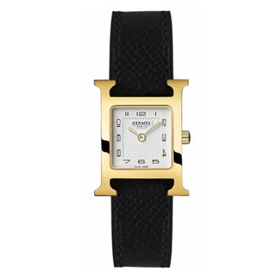 Hermes H Hour Small Ladies Gold Plated Quartz Watch - 036733WW00