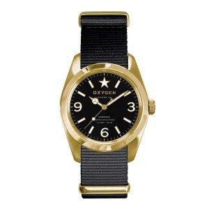 Oxygen - EX-S-LIN-34-BL - Sport - Montre Femme - Quartz Analogique - Cadran Noir - Bracelet Nylon Noir