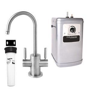 Mountain Plumbing MT1401-NL/PN Little Gourmet Hot and Cold Water Dispenser, Polished Nickel