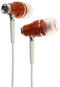 Symphonized NRG Premium Genuine Wood In-ear Noise-isolating Headphones with Mic (White)