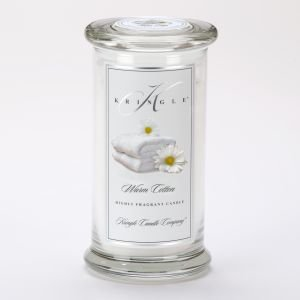 Kringle Candle Company Large Classic Apothecary Jar - Warm Cotton
