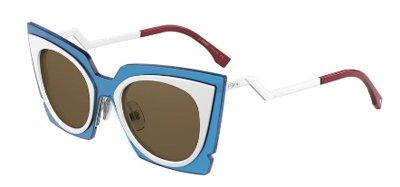 Fendi Orchidea 0117/S - IC4UT Turquoise White Sunglasses