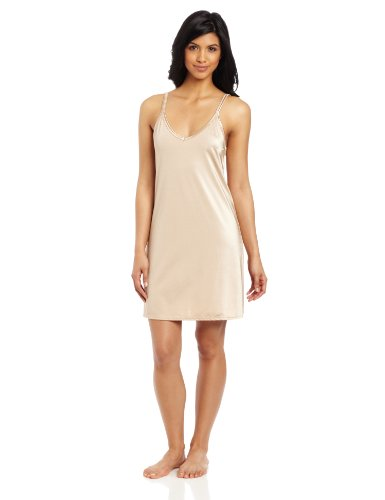 Vanity Fair Women's Tailored Full Spin Slip, Damask Neutral, Size 38