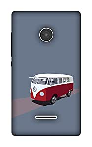 The Racoon Lean Van hard plastic printed back case / cover for Microsoft Lumia 532