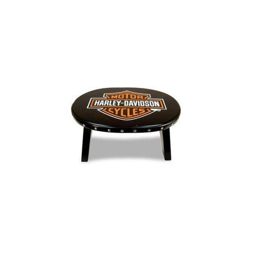 Harley Davidson Bar and Shield Stool   Color Black