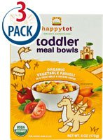 Happy Baby HappyTot Organic Superfoods Toddler Meal Bowls Organic Vegetable Ravioli -- 6 oz Each / Pack of 3