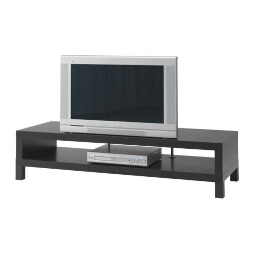 IKEA FALTA - Mueble TV, negro-marrón - 149x55 cm