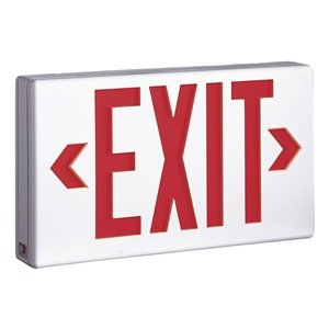 Exit Sign, Less Than 1.0W, Red/Grn, 1 Or 2