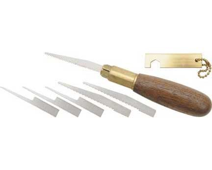 1 X Brass and Walnut Pro Pumpkin Carving Tool Kit