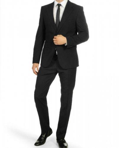 Men`s Suit Super120`s Marzotto black 52 (42 Regular)