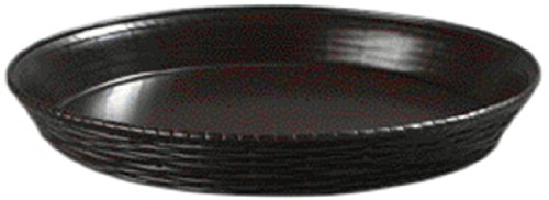 "Carlisle 652601 Weavewear Polypropylene Round Basket, 1.8 Qt Capacity, 1-1/2"" Height, Brown (Case Of 12) front-635343"