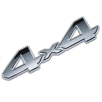 Chrome 4X4 Emblem/Badge For Truck/Suv/Pickup Rear Tailgate Tail Gate Door 4Wd for Dodge Ram 1500 (1998 Dodge Ram Rear Door compare prices)
