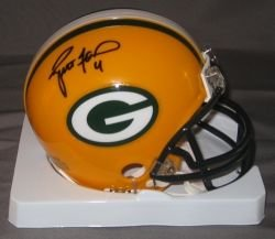 Brett Favre Green Bay Packers Signed Autographed Mini Helmet Authentic Certified Coa