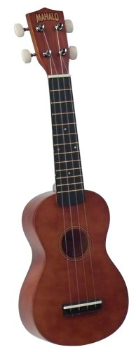 Mahalo U-50G Economy Soprano Ukulele with Geared Tuning Pegs and Gig Bag (Natural)