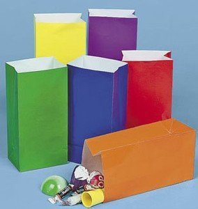 Mini Bright Paper Treat Bags