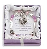 D.M. Crystal Expressively Yours Bracelet - Sister, Friend, Forever Silver