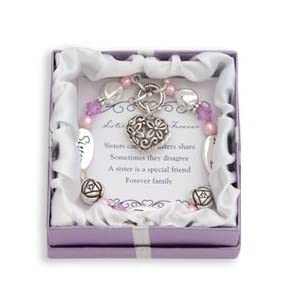 Sister, Friend, Forever Silver & Crystal Expressively Yours Bracelet