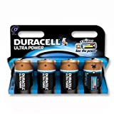 Brand New. Duracell Ultra Power MX1300 Battery Alkaline 1.5V D Ref 81235530 [Pack 4]