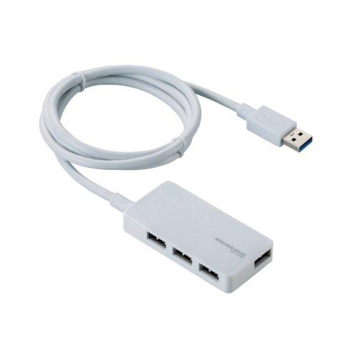 ELECOM USB3.0ハブ ACアダプター付き セルフパワー サイドポート付き 4ポート ホワイト U3H-A408SWH