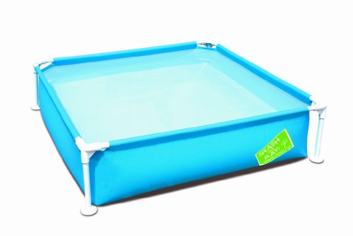 bestway 56217 planschbecken my first frame pool stahlrohr circa 122 x 122 x 30 5 cm farbig. Black Bedroom Furniture Sets. Home Design Ideas
