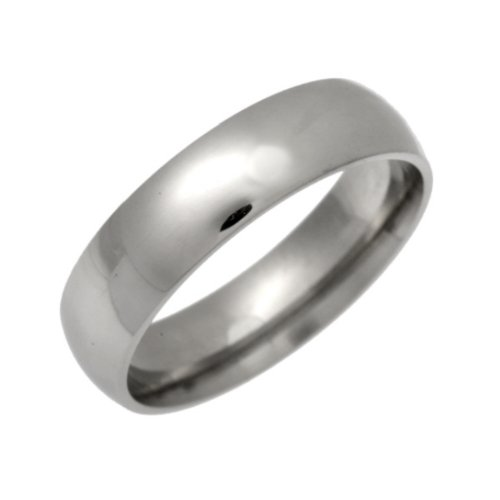 Palladium Wedding Ring, Light Weight Court Shape, 5mm Band Width