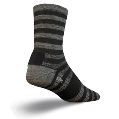 Buy Low Price SockGuy Wool 5in Elite-Tech Stoker Stripe Cycling/Running Socks (B002TOILRY)