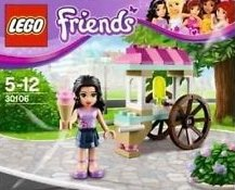 Lego Friends Polybag 30106 Emma with Ice Cream Cart Stand