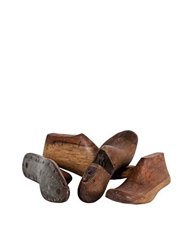 Mercana Authentic Antique Wood and Metal Shoe Molds