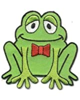 Happy Frog Iron On Patch