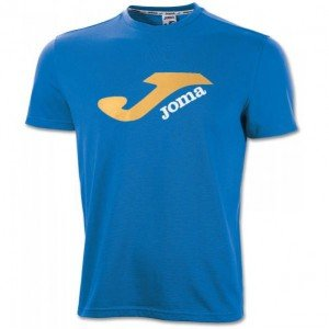 JOMA LOGO POLYESTER-COTTON BLUE S/S T-SHIRT M