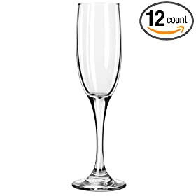 Libbey 3796 Embassy Royale Tall 6 oz Flute Glass - 12 / CS