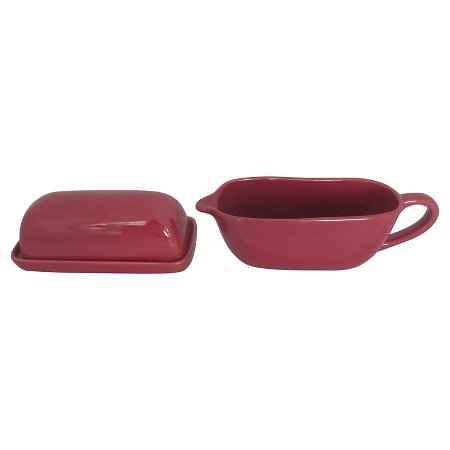 New Camden Butter Dish and Gravy Boat Set - ThresholdTM MINERAL RED (Threshold Dishes compare prices)