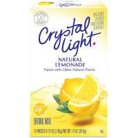 CRYSTAL LIGHT NATURAL LEMONADE DRINK MIX ON THE GO 10 SACHET PACK AMERICAN IMPORT