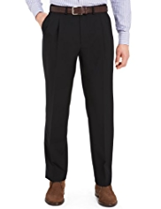 Active Waistband Twin Pleat Travel Trousers